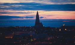 Sunset over Reykjavik