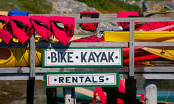 Kayaks at Boothby harbour