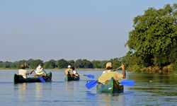 Canoeing the River in Zimbabwe