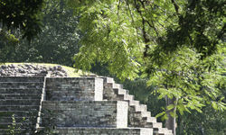 Temple in Copan, Honduras