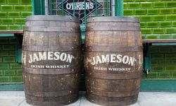 Two Jameson wooden barrels
