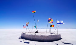 Flags on the Salt Flats