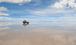 A Jeep on the Salt Flats