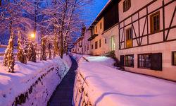 Kitzbuhel ski resort at night