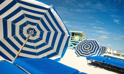 Umbrellas on Miami beach