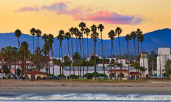 Sunset on Los Angeles beach