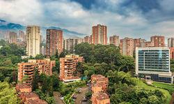 Cityscape El Poblado District of Medellin