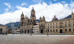 Bolivar Square and Cathedral in Bogota