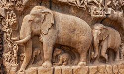 Elephant carving