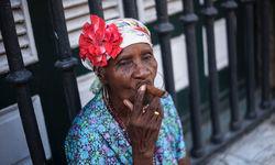 A Cuban woman smoking a cigar