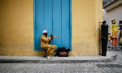 A Cuban street musician