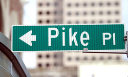 Pike Place road sign