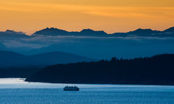 A ferry on Puget Sound