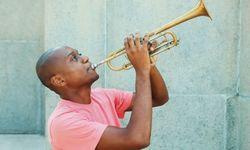 Cuban man playing the trumpet