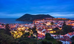 A view over Terceira in The Azores at night