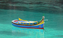Malta fishing boat in water