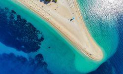 Zlatni Rat beach in Brac Island