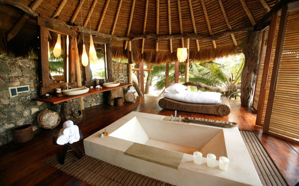 North island seychelles original travel picture of villa bathroom north island sisterspd