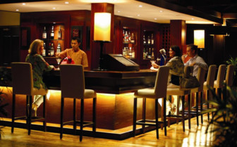 The bar at la Residence d' Angkor, luxury hotel in Cambodia