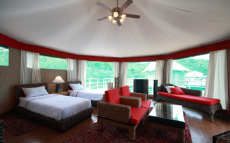 Suite at 4 Rivers Floating Lodge, luxury hotel in Cambodia