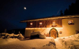 Property in winter at San Lorenzo Mountain Lodge,luxury hotel in Italy