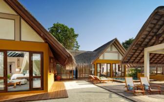 Exterior at Four Seasons Landaa Giraavaru, luxury hotel in the Maldives