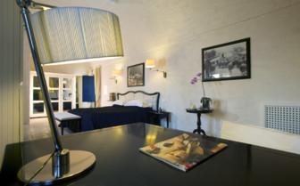 Bedroom at Masseria Torre Maizza, luxury hotel in italy