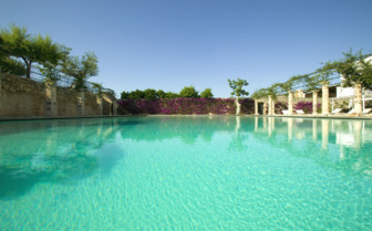 The swimming pool at Masseria Torre Maizza, luxury hotel in italy
