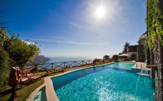 The swimming pool at Palazzo Avino