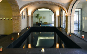 The inside pool at L'Andana