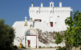 Exterior of the Masseria Torre Coccaro hotel
