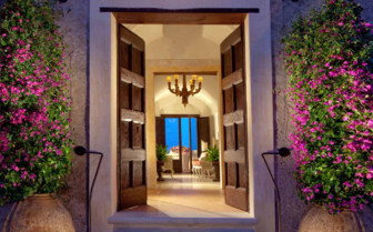 The entrance area at the hotel