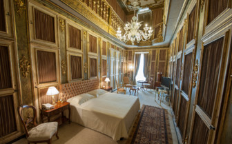 Bedroom at Ca' Sagredo, luxury hotel in Italy