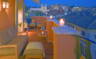 Terrace at Portrait Roma hotel