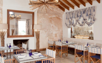 Restaurant at Cap Rocat, luxury hotel in Spain