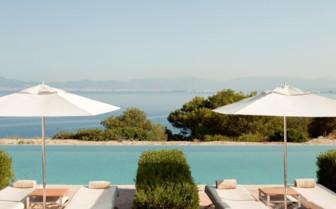 The outdoor pool at Cap Rocat hotel