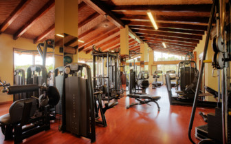 The fitness area at the hotel