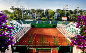 The tenis club at Hotel Puente Romano, luxury hotel in Spain