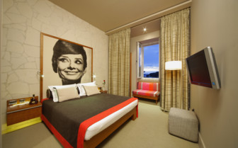 Double bedroom at Hotel Riva, luxury hotel in Croatia