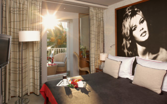 Luxury bedroom at Hotel Riva