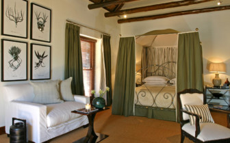 The deluxe room at Bushmans Kloof hotel, luxury hotel in South Africa