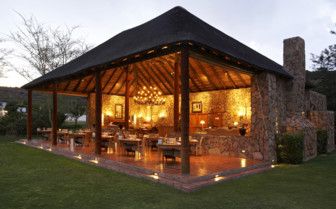 Open dining room at Bushmans Kloof, luxury hotel in South Africa