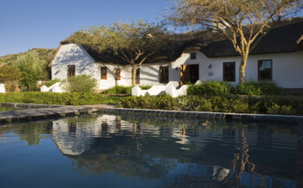 The exterior at Bushmans Kloof hotel