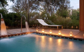 The spa pool at Babylonstoren hotel