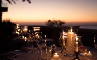 Outdoor dining at Ellerman House & Villas