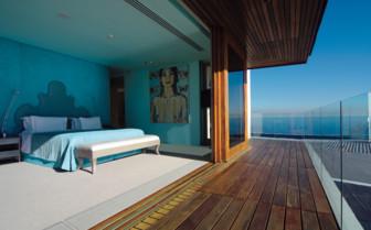 Bedroom with view at Ellerman House & Villas