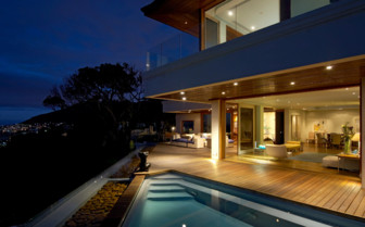 The exterior at night at Ellerman House & Villas, luxury hotel in South Africa