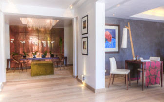 The hotel interior at Kensington Place hotel