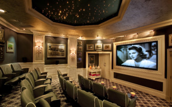 The cinema at Oyster Box Hotel, luxury hotel in South Africa