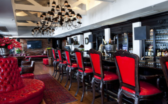 The bar at the hotel